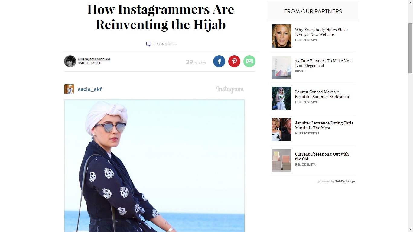 Instagrammers and Hijab