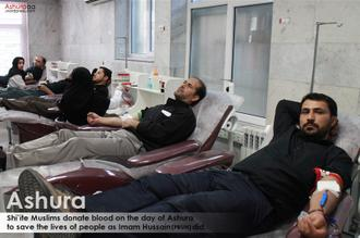 Ashura blood donation in Iran