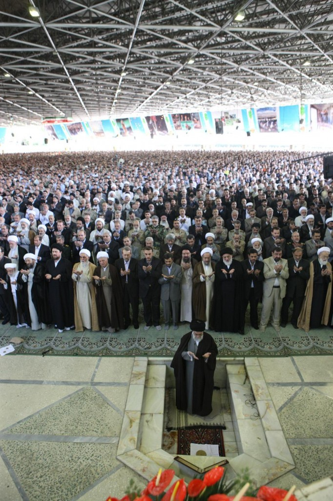 Friday prayer in congregation in Iran