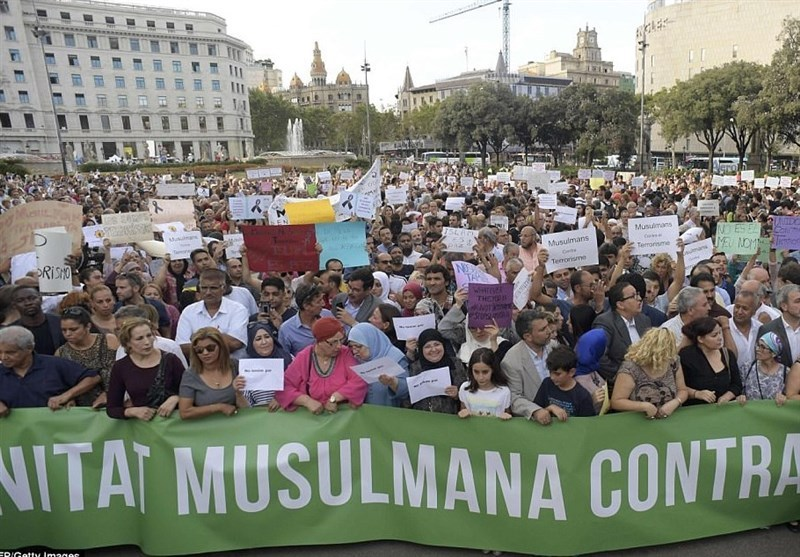 "(AhlulBayt News Agency) - Members of the Muslim community in Barcelona have taken to the streets chanting ""not in my name"" following the devastating terror attack"