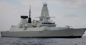 UK's £1bn warship breaks down in Persian Gulf