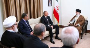 Photos: President of Azerbaijan met with Imam Khamenei