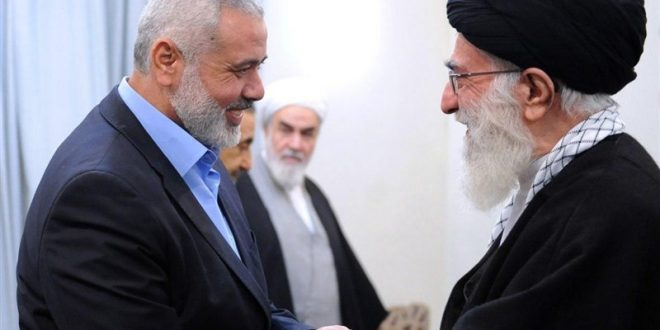 Haniyeh stresses Imam Khamenei's role in backing Quds