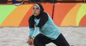 athelete women with Hijab