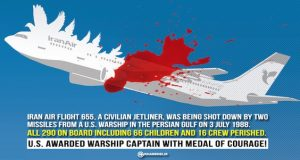 Legion of Merit awarded to the one who killed 290 passengers of Iran Air flight 655