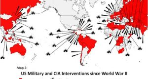 The US role in overthrowing over 50 independent governments since 1945